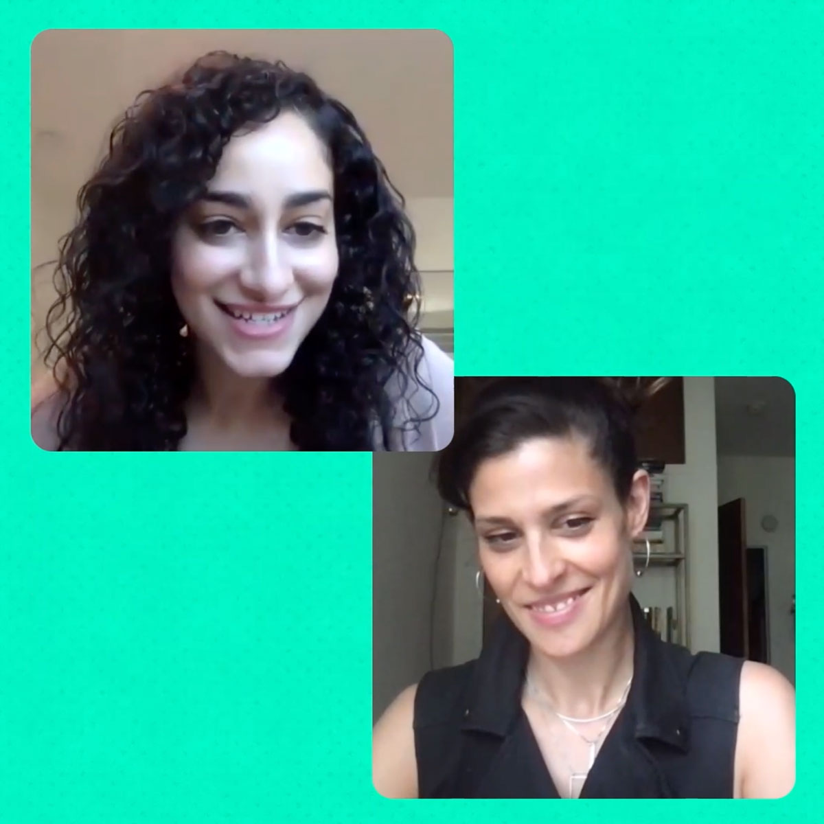Reema and Dessa in a screenshot from our new video.