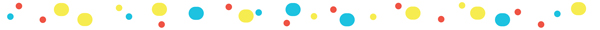 Several colorful dots, acting as a spacer between sections of the newsletter.