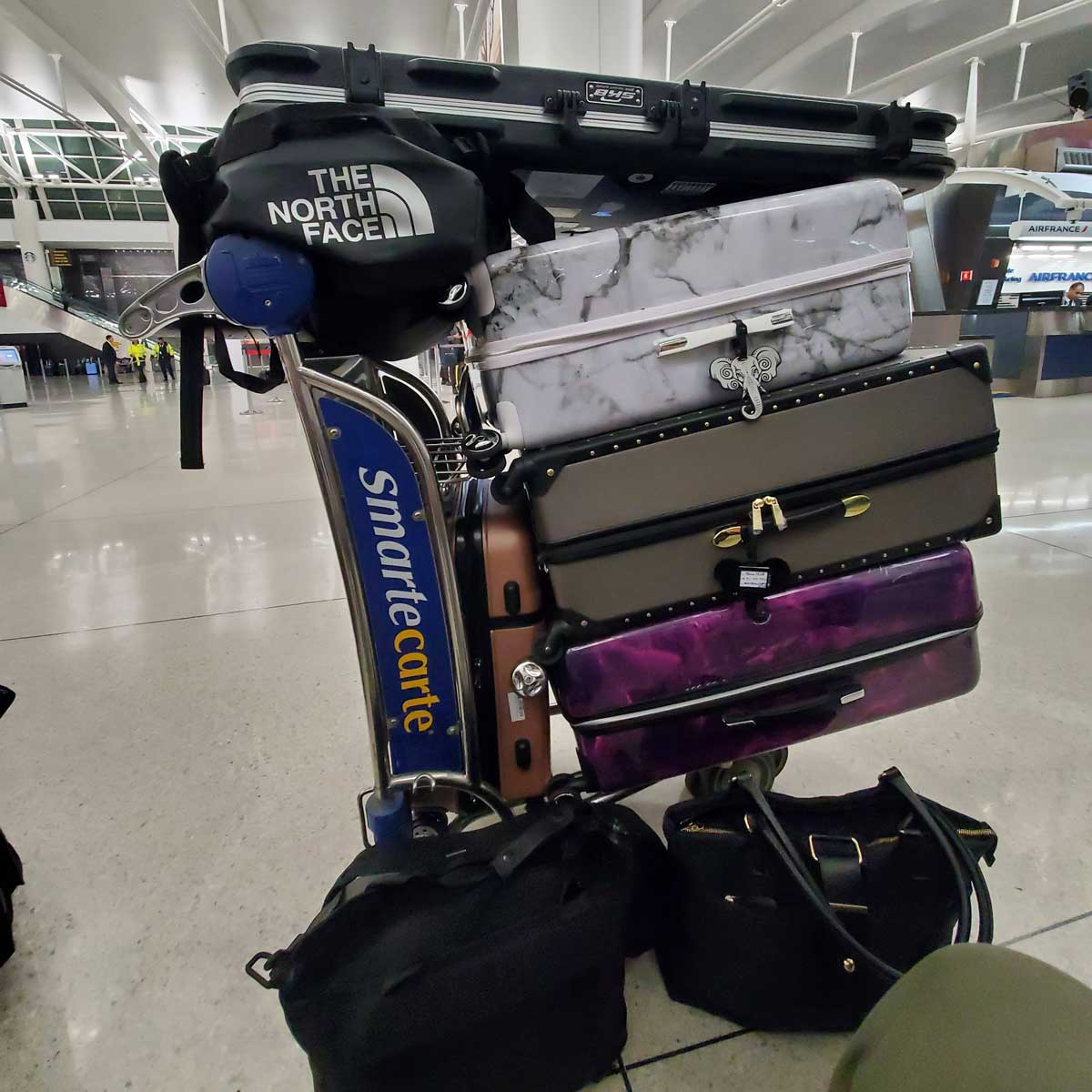 Anthony's bags, packed for his trip